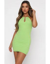 Атрактивна дамска рокля в зелено - код 11936