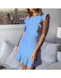 Елегантна рокля в светло син цвят - код 548