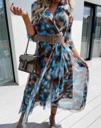 Ефектна дамска рокля - код 8250 - 3
