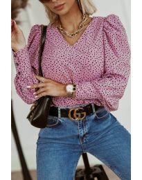 Атрактивна дамска блуза в розово - код 3250