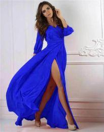 Елегантна дамска рокля в синьо - код 4118