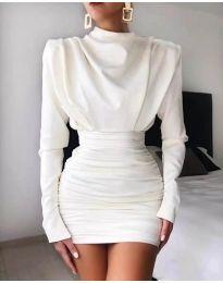 Елегантна дамска рокля в бяло - код 8257