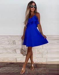 Атрактивна дамска рокля в тъмносиньо - код 2739
