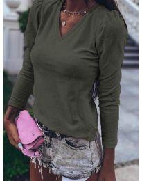 Дамска блуза в масленозелено - код 0755