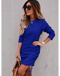 Дамска рокля в тъмно синьо - код 8293