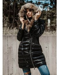 Ефектно черно яке - код 1915