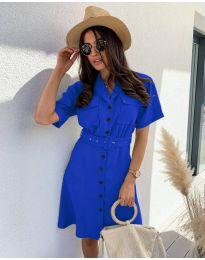 Елегантна рокля в синьо - код 742