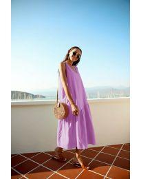 Свободна изчистена рокля в лилаво - код 8810