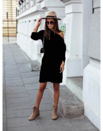 Дамска рокля в черно  - код 8171