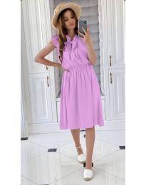 Елегантна рокля в светло лилаво - код 701