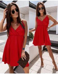 Елегантна рокля в червено - код 1000