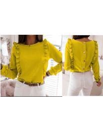 Дамска блуза в цвят горчица - код 4171