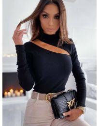 Елегантна блуза в черно - код 11490