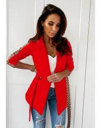 Дамско елегантно сако в червено - код 6023