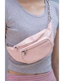 Дамска чанта в слетлорозово - код B491