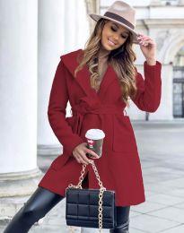 Дамско палто в червено - код 4973