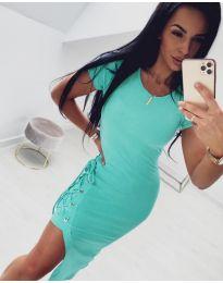Спортно - елегантна рокля в цвят мента - код 059