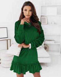 Атрактивна дамска рокля в зелено - код 0424