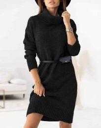 Дамска рокля  в черно - код 0393