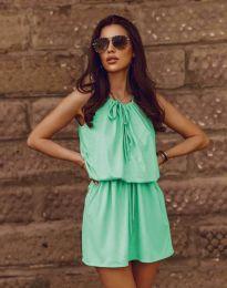 Ежедневна рокля в цвят мента - код 8399