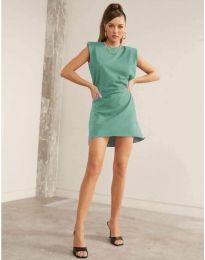 Свободна къса дамска рокля в цвят мента - код 625