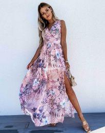 Дамска рокля с атрактивен десен - код 0570 - 1