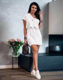 Дамска рокля в бяло - код 3214