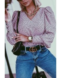 Атрактивна дамска блуза в лилаво - код 3250