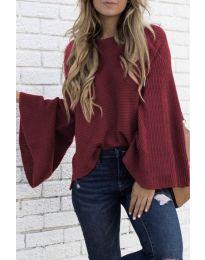 Дамски пуловер в бордо - код 0202