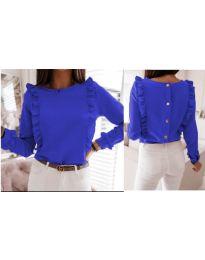 Дамска блуза в тъмно синьо - код 4171