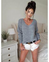 Дамски пуловер в сиво - код 8768