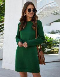 Дамска рокля в зелено - код 3843