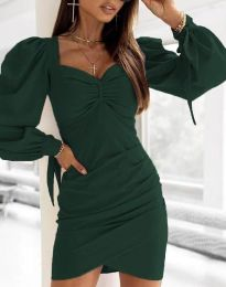 Дамска рокля  в зелено - код 0363