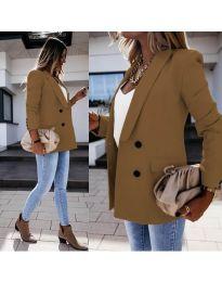 Елегантно дамско сако в кафяво - код 949