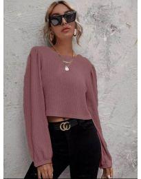 Дамска блуза в цвят пудра - код 5932