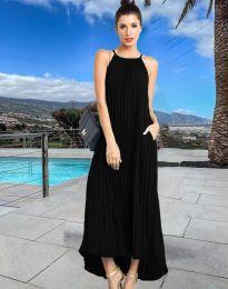 Дълга лятна рокля в черно - код 6999