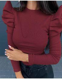 Дамска блуза в бордо - код 8027