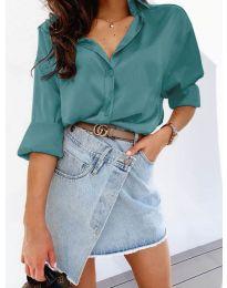 Изчистена дамска риза в цвят мента - код 4646