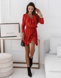 Атрактивна дамска рокля в червено - код 0578