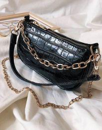 Ефектна дамска чанта в черно - код B299