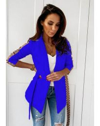 Дамско елегантно сако в тъмно синьо - код 6023