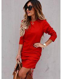 Дамска рокля в червено - код 8293