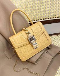 Дамска чанта в цвят горчица - код B441