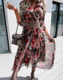 Ефектна дамска рокля - код 8250 - 5