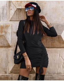 Дамска рокля в черно  - код 9545