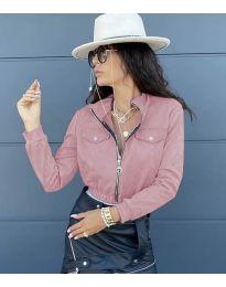 Дамско късо яке в розово - код 7070