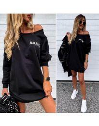 Свободна рокля в черно - 322