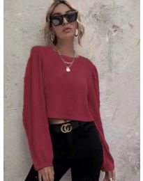 Дамска блуза в бордо - код 5932