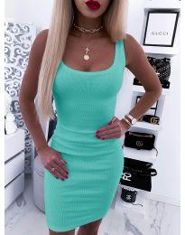 Дамска рокля по тялото в цвят мента - код 935