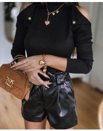 Екстравагантна дамска блуза в черно - код 1596
